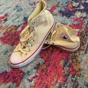Yellow High top all star converse